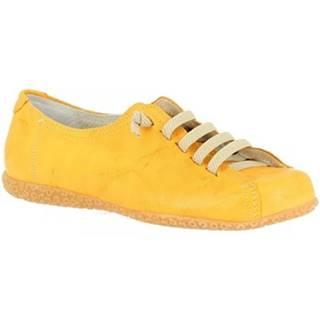 Derbie Leonardo Shoes  1269PINTA GIALLO