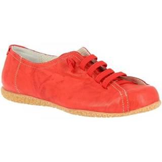 Derbie Leonardo Shoes  1269PINTA ROSSO CHIARO