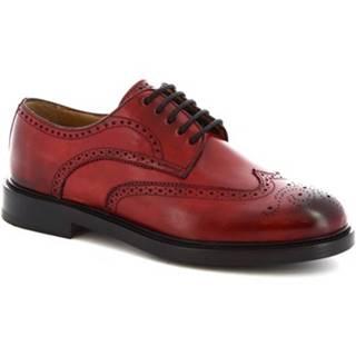 Derbie Leonardo Shoes  9016/19 CAPRI DELAVé ROSSO