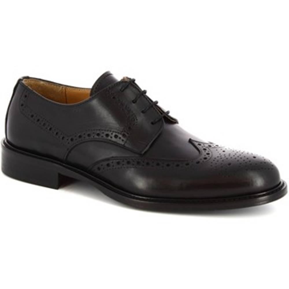 Leonardo Shoes Derbie Leonardo Shoes  110 VITELLO NERO