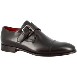 Mokasíny Leonardo Shoes  9452E20 TOM MONTECARLO NERO