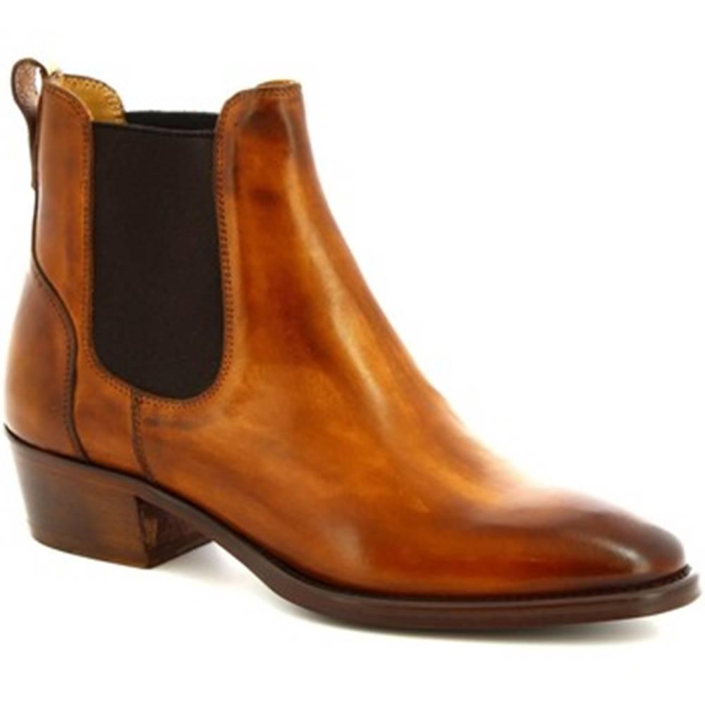 Leonardo Shoes Nízke čižmy Leonardo Shoes  9227/19 VITELLO DELAVE SIENA