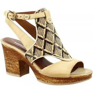 Sandále Leonardo Shoes  213001 CORDA BIANCO BEIGE