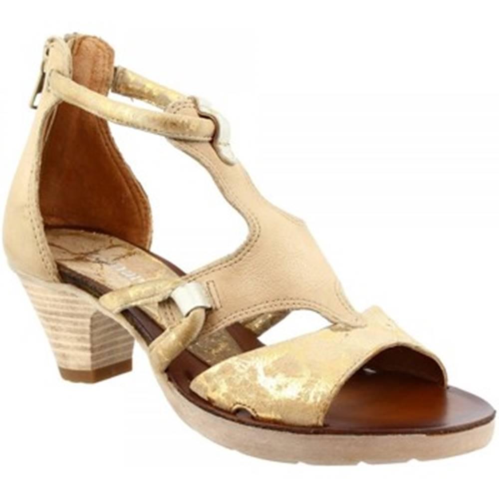 Leonardo Shoes Sandále Leonardo Shoes  588007 CAMEL CORDA LINO