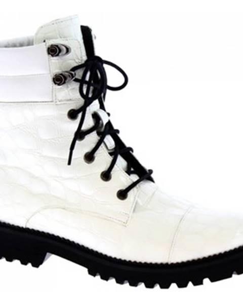Biele čižmy Leonardo Shoes