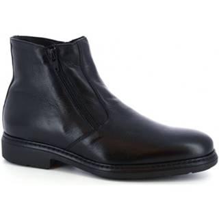 Polokozačky Leonardo Shoes  75538-I F. 755 GOMMA ILARI CUC NERO