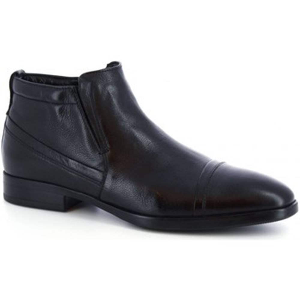 Leonardo Shoes Polokozačky Leonardo Shoes  41616-I F. 416 GOMMA NEUT N FOD. MERINOS