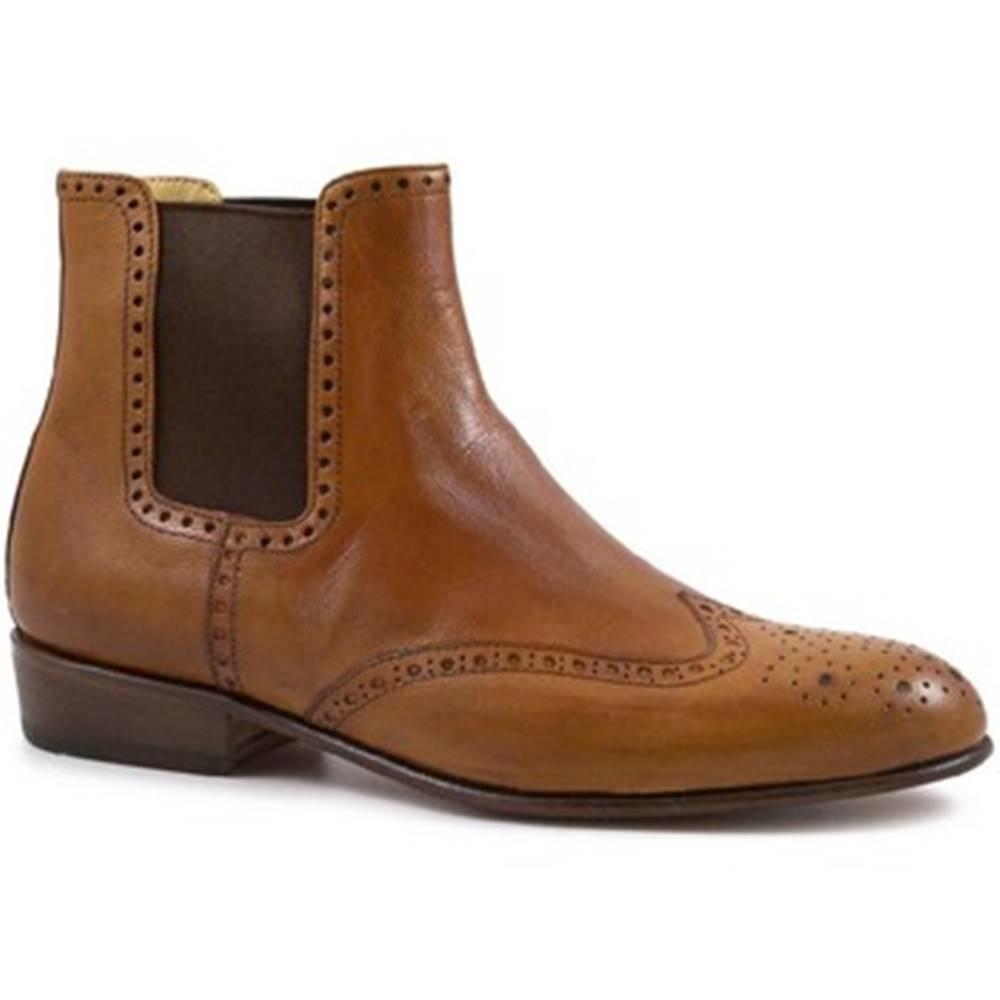 Leonardo Shoes Polokozačky Leonardo Shoes  PINA 044 CUOIO