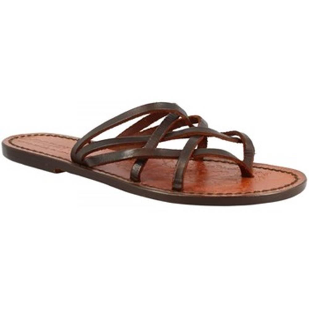 Leonardo Shoes Sandále Leonardo Shoes  543 T.MORO