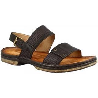 Sandále Leonardo Shoes  434011 NERO LEGNO