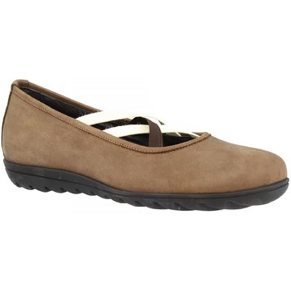 Leonardo Shoes Balerínky/Babies Leonardo Shoes  513 NABUK T. MORO