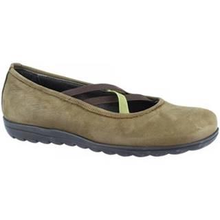 Balerínky/Babies Leonardo Shoes  513 NABUK SOTTOBOSCO