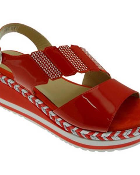 Červené topánky Melluso