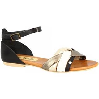 Sandále Leonardo Shoes  PC70X VACCHETTA / CAPRA NERO