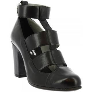 Sandále Leonardo Shoes  W048-09 PERNOT NERO