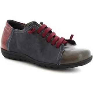 Derbie Leonardo Shoes  504 BLU BORDEAUX