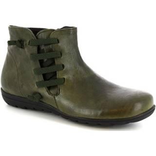 Polokozačky Leonardo Shoes  4527 VERDE