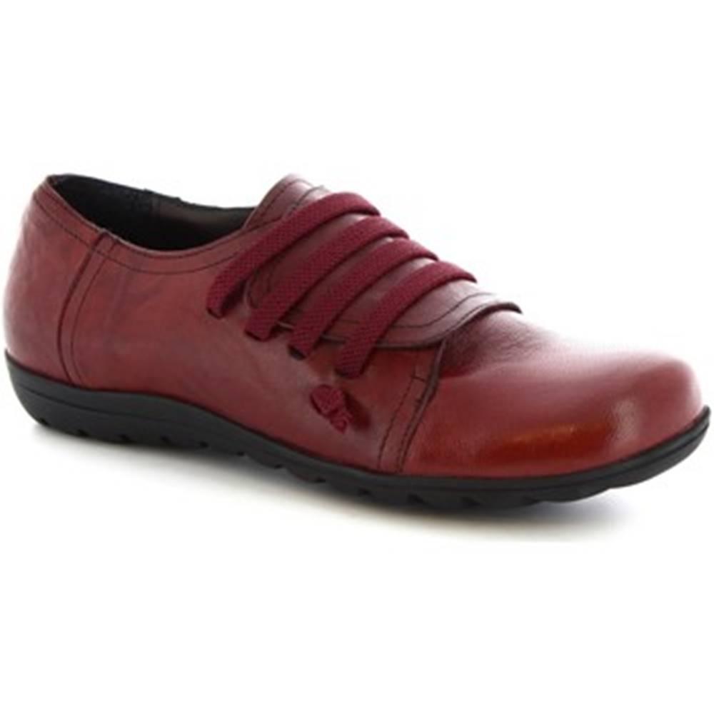Leonardo Shoes Derbie Leonardo Shoes  4530 STROPICCIATO BORDEAUX