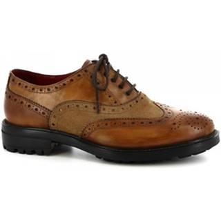 Richelieu Leonardo Shoes  05574 13971 SCA VITELLO DELAVE SIENA I