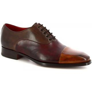 Richelieu Leonardo Shoes  8739E19 TOM VITELLO DELAVE SIENA BORDO