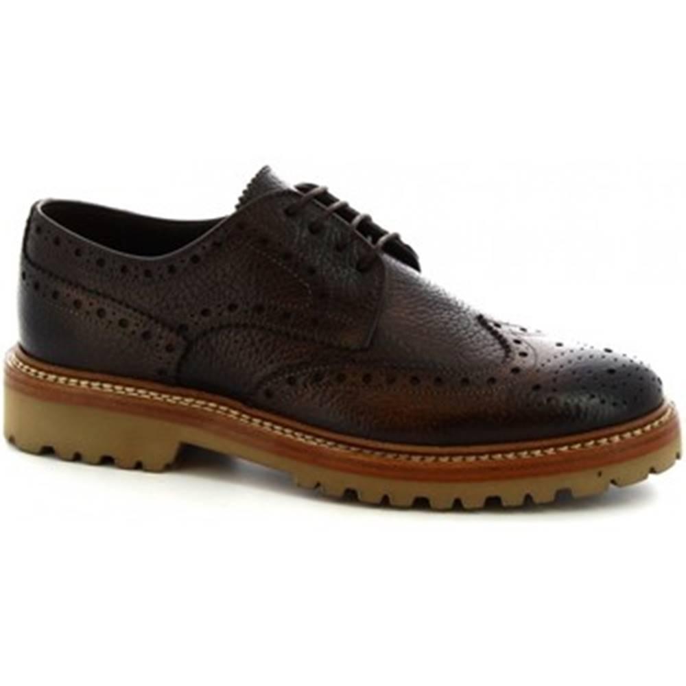 Leonardo Shoes Derbie Leonardo Shoes  4702 DOLLARO DELAVE CIOCCOLATO