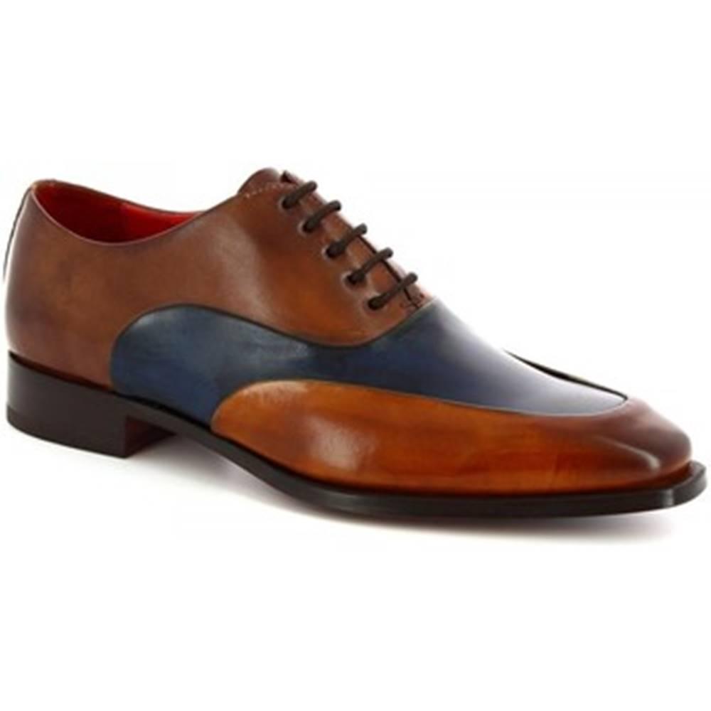 Leonardo Shoes Richelieu Leonardo Shoes  8741E19 VITELLO DELAVE SIENA BLU