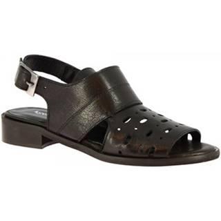Sandále Leonardo Shoes  4677 ROK NERO
