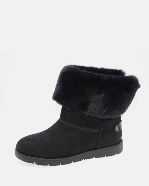 Čierna zimná obuv Tom Tailor