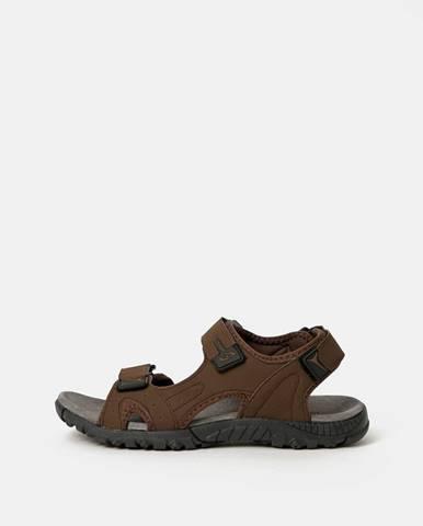 Hnedé sandále loap
