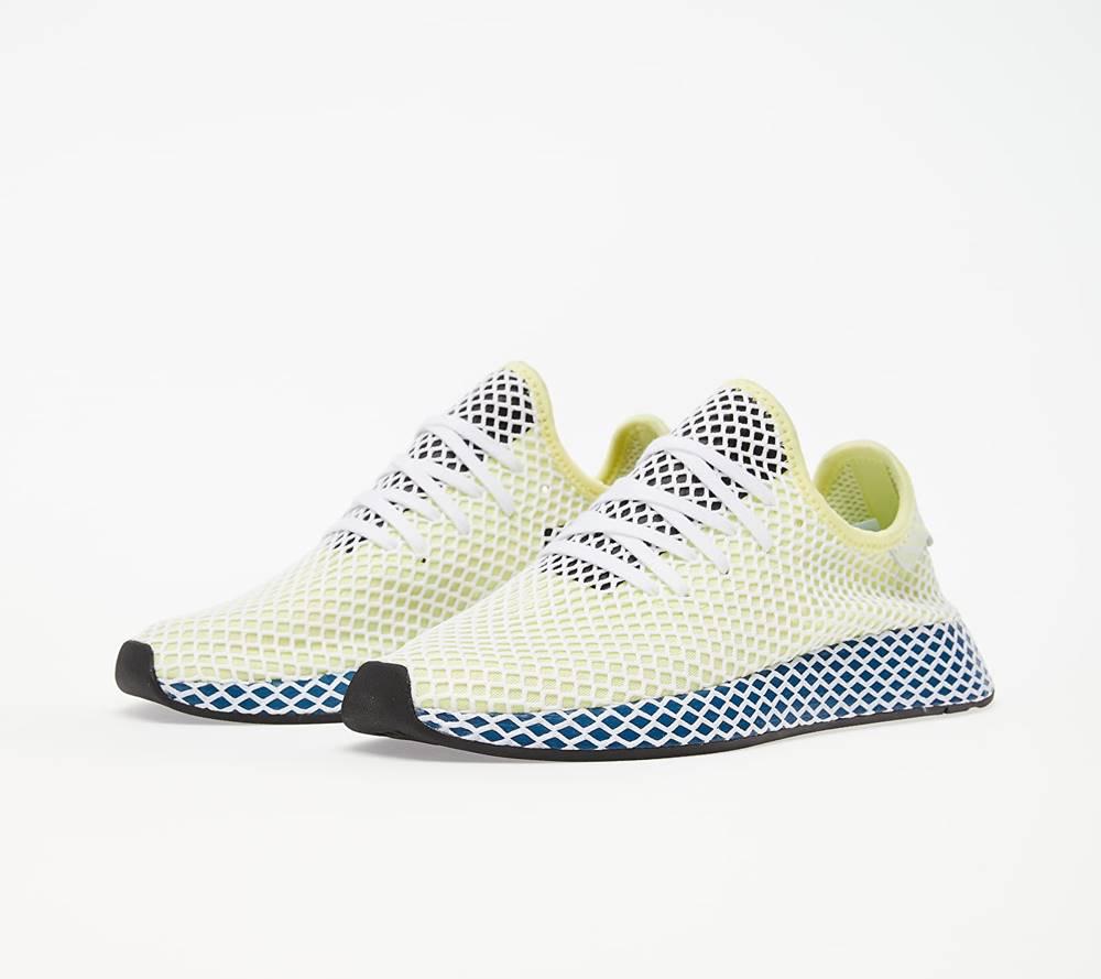 adidas Originals adidas Deerupt Runner Yellow Tint/ Ftw White/ Legend Marine