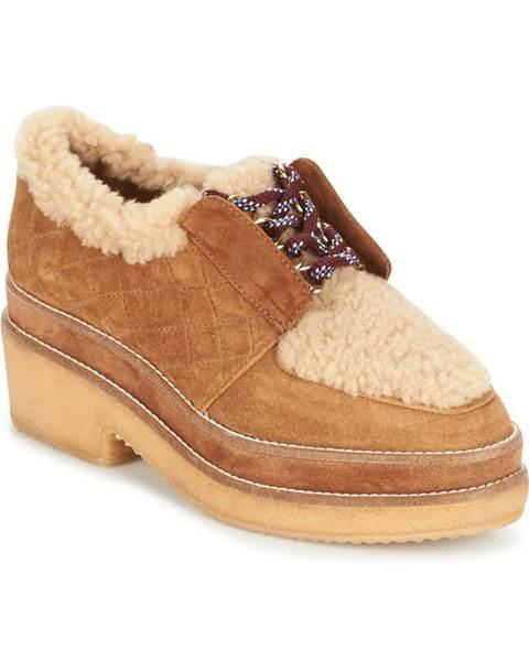 Hnedé topánky Castaner