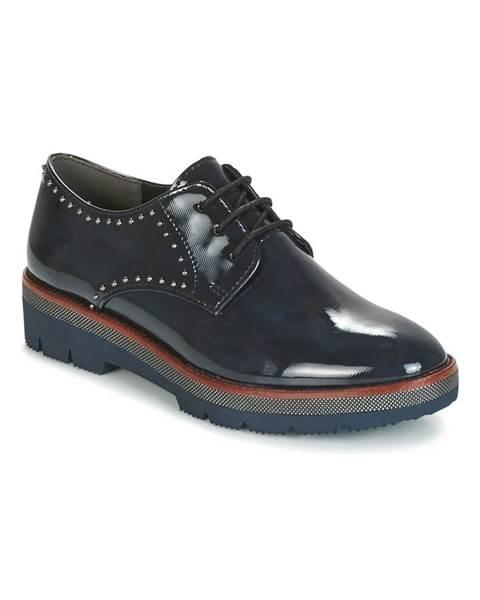 Modré topánky Marco Tozzi