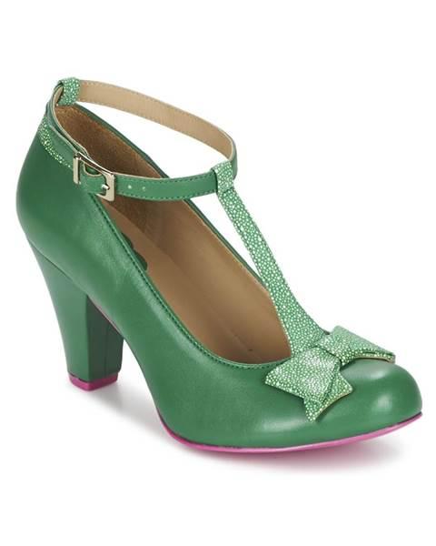 Zelené lodičky Cristofoli