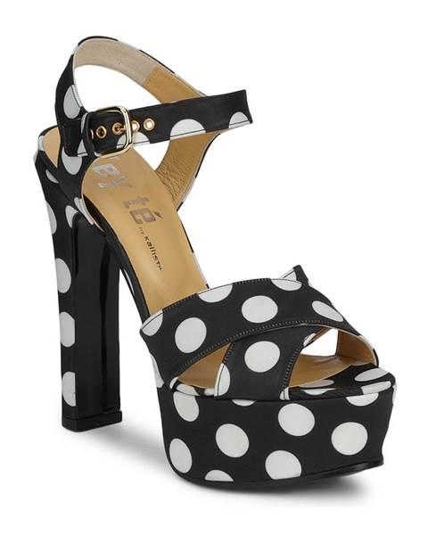 Čierne sandále Keyté