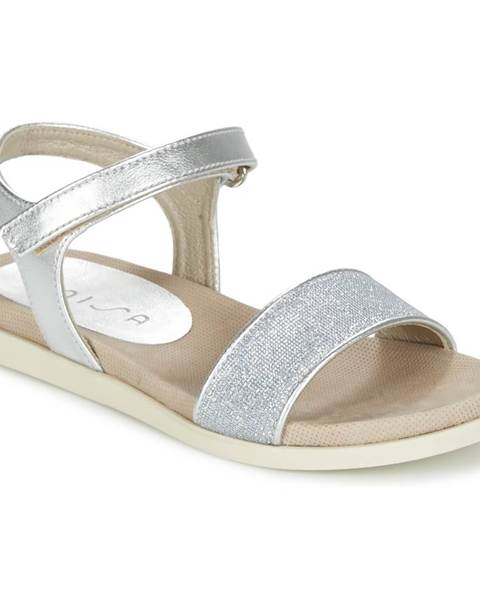 Strieborné sandále Unisa