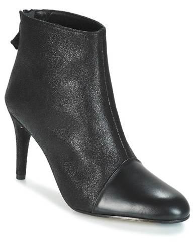Čierne topánky Elizabeth Stuart