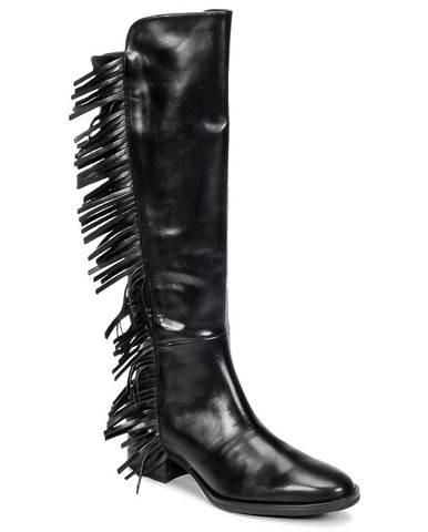 Čierne čižmy Jonak