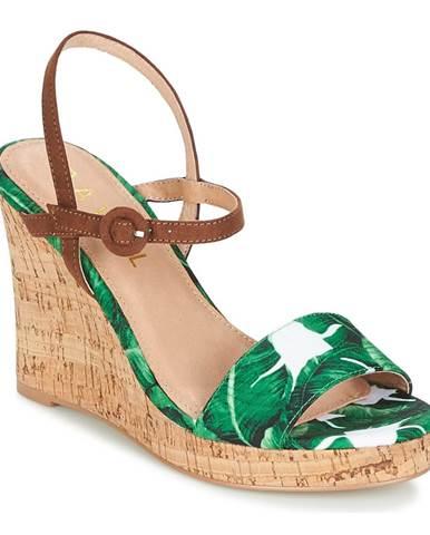 Zelené sandále Ravel