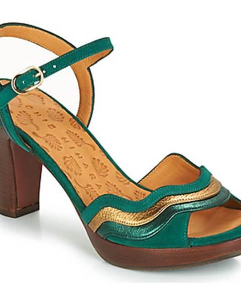 Zelené sandále Chie Mihara