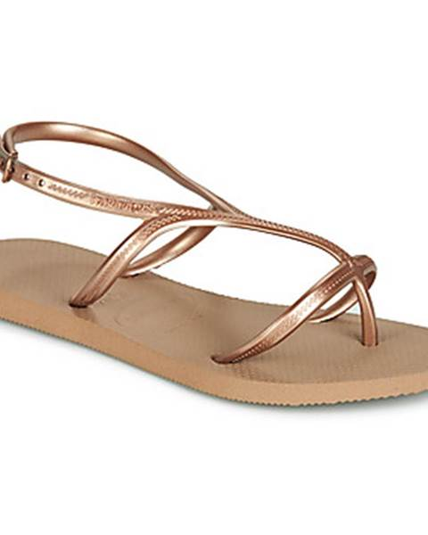 Zlaté sandále Havaianas