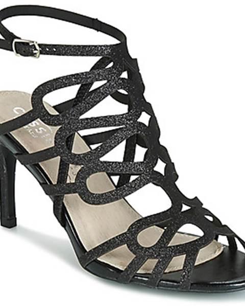 Čierne sandále Cassis Côte d'Azur