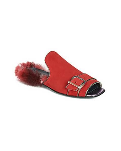Červené topánky Papucei