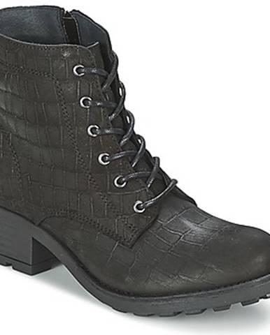 Čierne polokozačky Shoe Biz