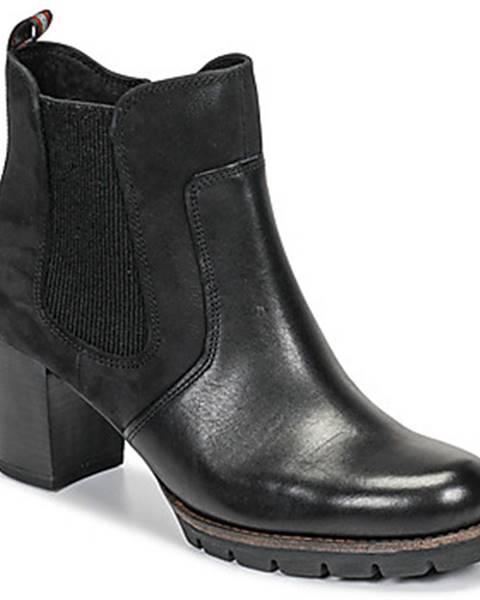 Čierne topánky Marco Tozzi