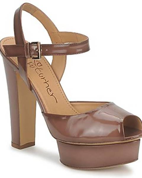 Hnedé sandále Eva Turner