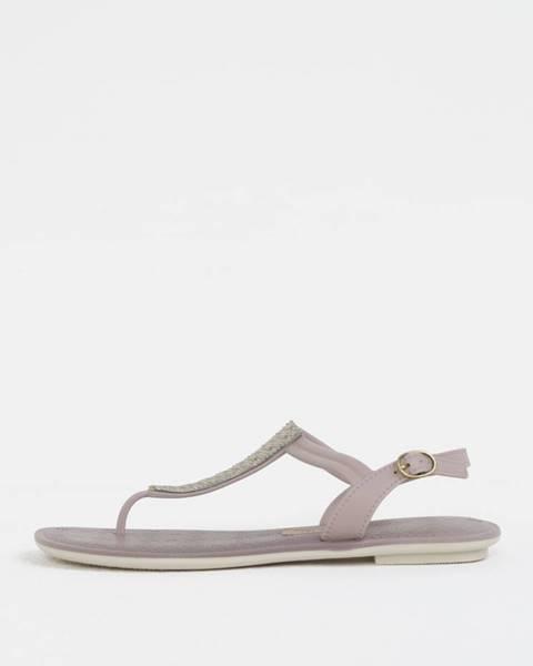 Svetlofialové topánky Grendha