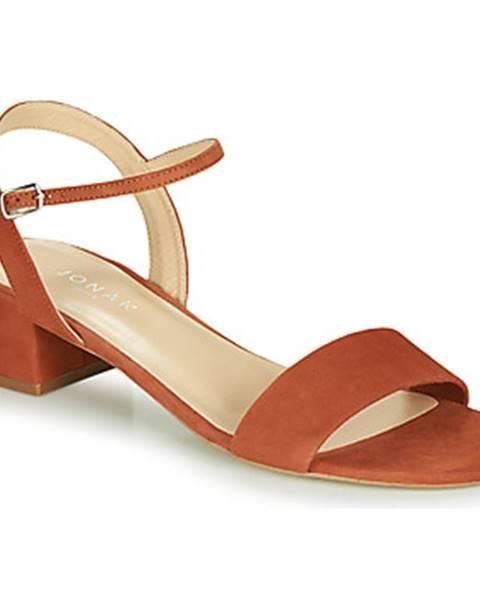 Červené sandále Jonak
