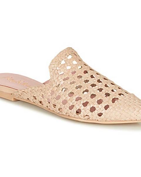 Béžové topánky Pretty Ballerinas
