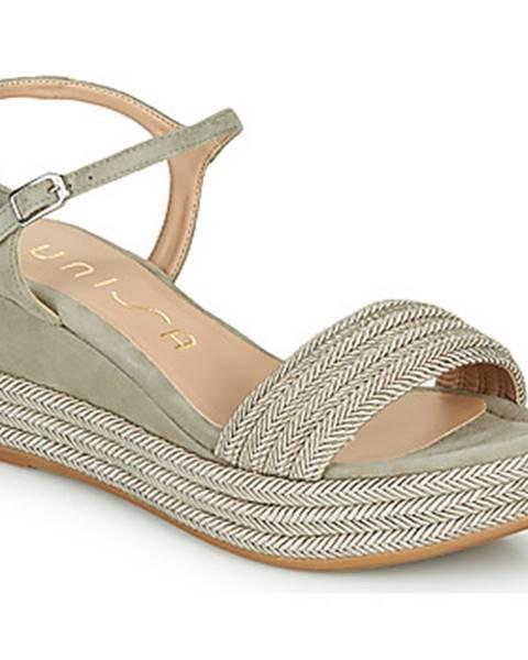 Béžové sandále Unisa