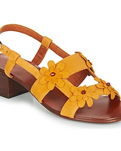 Žlté sandále Chie Mihara